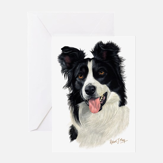Border Collie Head Greeting Card