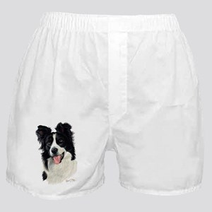Border Collie Head Boxer Shorts