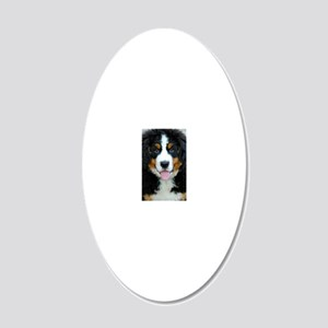 Bernese Mountain Dog Puppy 3 20x12 Oval Wall Decal