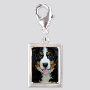 Bernese Mountain Dog Puppy 3 Silver Portrait Charm