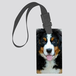 Bernese Mountain Dog Puppy 3 Large Luggage Tag