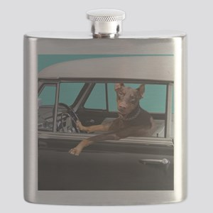 Doberman Pinscher in Classic Car Flask
