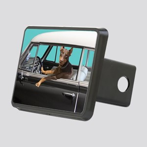 Doberman Pinscher in Class Rectangular Hitch Cover