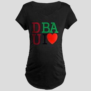 Dubai UAE Emirates. Islam A Maternity Dark T-Shirt