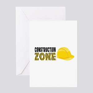 Construction Zone Greeting Cards