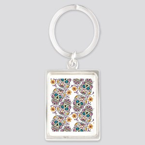 Day of The Dead Sugar Skull, Hal Portrait Keychain