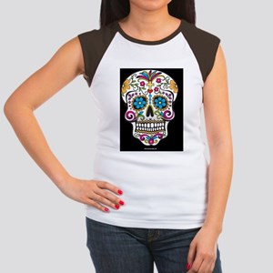 Day of The Dead Sugar S Women's Cap Sleeve T-Shirt