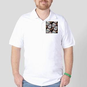 Day of The Dead Sugar Skull, Halloween Golf Shirt