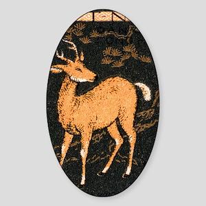 Vintage 1961 Vietnam Sambar Deer Po Sticker (Oval)