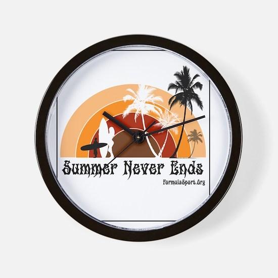 Summer Never Ends Wall Clock