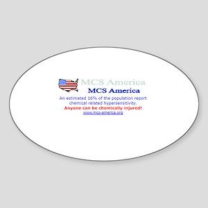 MCS America Logo Wear Oval Sticker
