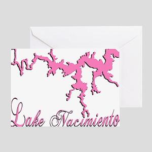 LAKE NACIMIENTO -5n- pink Greeting Card