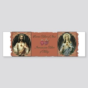 2 Sacred Hearts Bumper Sticker
