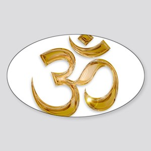 Gold Om Sticker