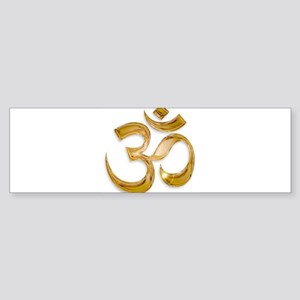 Gold Om Bumper Sticker