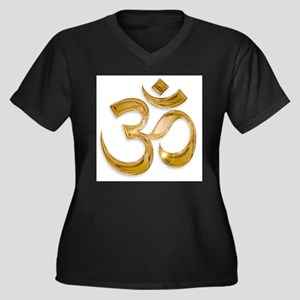 Gold Om Plus Size T-Shirt