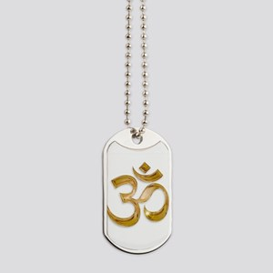 Gold Om Dog Tags