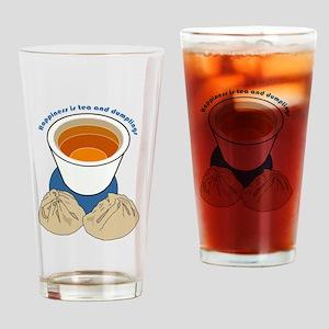 Tea and Dumplings Drinking Glass