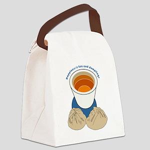 Tea and Dumplings Canvas Lunch Bag