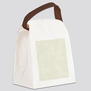 Cream Floral Pattern Shower Curta Canvas Lunch Bag