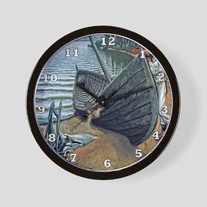 Old Rowboat Wall Clock