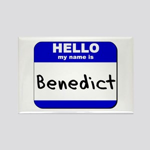 hello my name is benedict Rectangle Magnet
