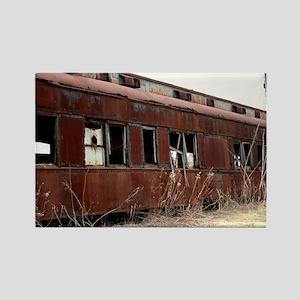 Rusting Train Car Rectangle Magnet