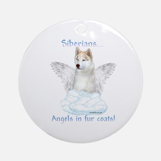 Sibe Angel Ornament (Round)