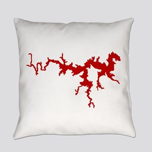 dragon only_crimson Everyday Pillow