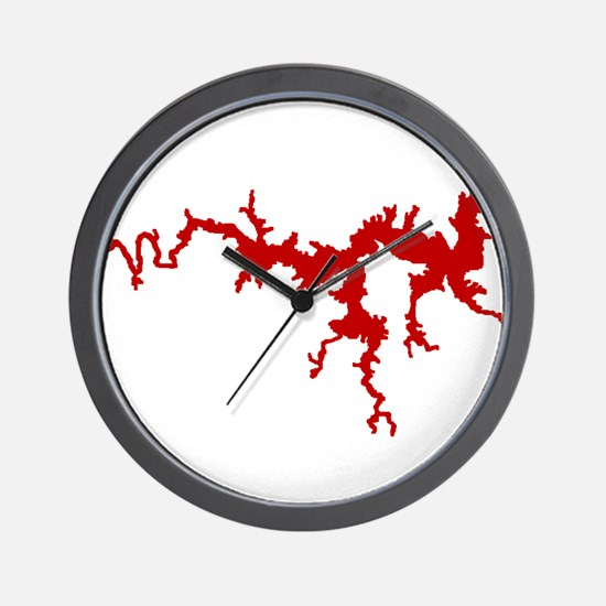 dragon only_crimson.png Wall Clock