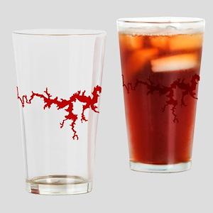 dragon only_crimson Drinking Glass