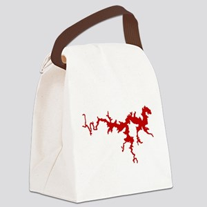dragon only_crimson Canvas Lunch Bag