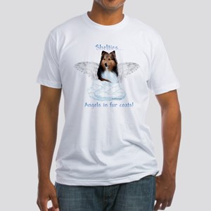 Sheltie Angel Fitted T-Shirt