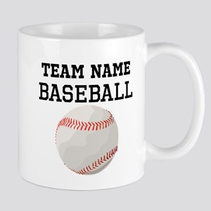 (Team Name) Baseball Mugs