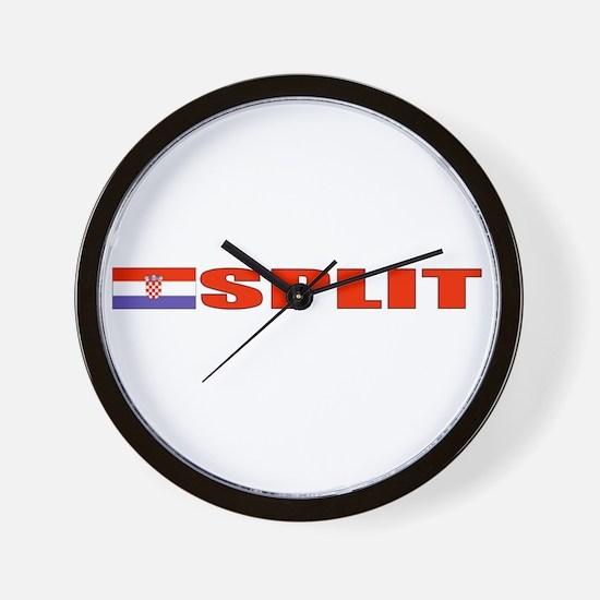 Split, Croatia Wall Clock