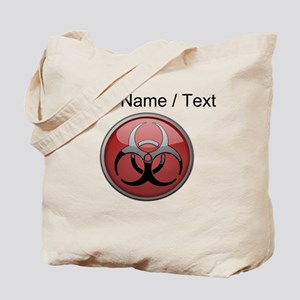 Custom Biohazard Symbol Tote Bag