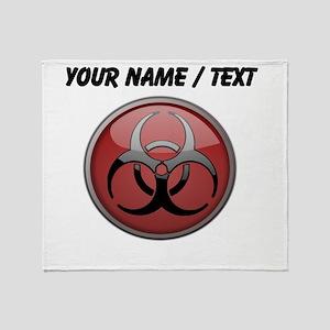 Custom Biohazard Symbol Throw Blanket