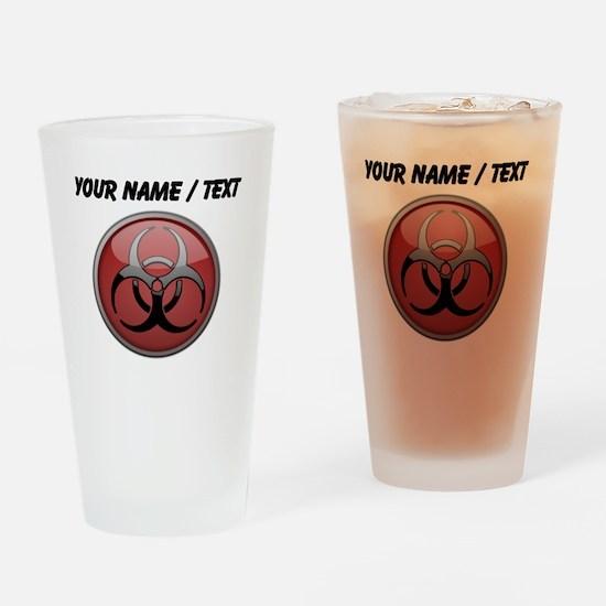 Custom Biohazard Symbol Drinking Glass