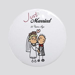 Just Married 35 years ago Ornament (Round)