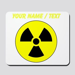 Custom Yellow Round Radioactive Mousepad
