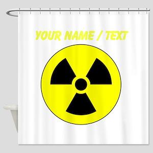 Custom Yellow Round Radioactive Shower Curtain
