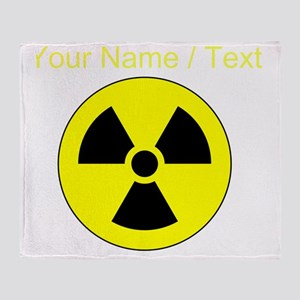 Custom Yellow Round Radioactive Throw Blanket