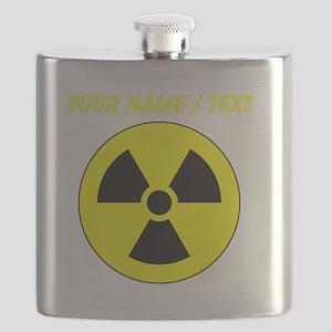 Custom Yellow Round Radioactive Flask