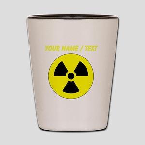 Custom Yellow Round Radioactive Shot Glass