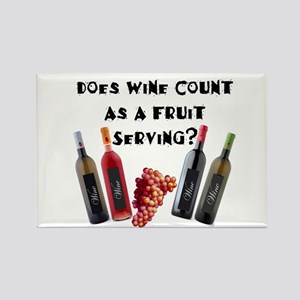Wine as Fruit2? Rectangle Magnet