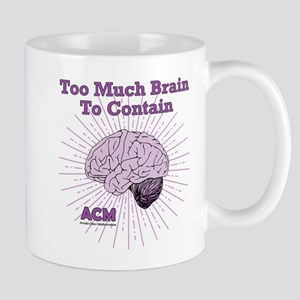 Too Much Brain To Contain Mugs