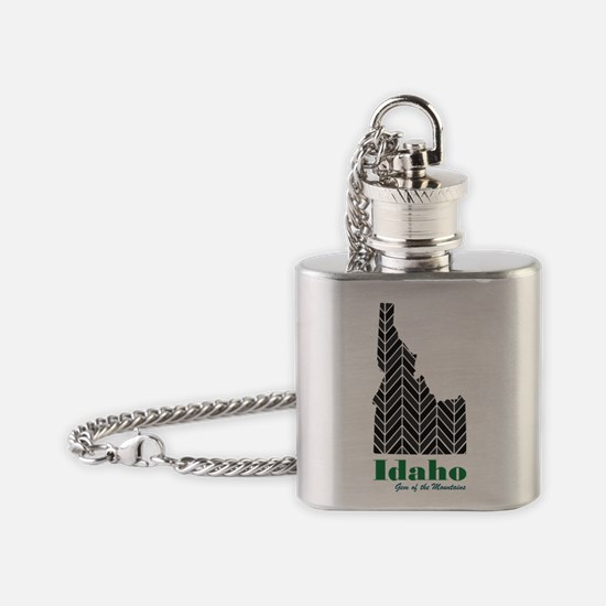 Chevron Idaho Flask Necklace