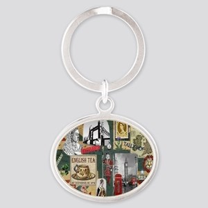 Anglophiles Delight Oval Keychain