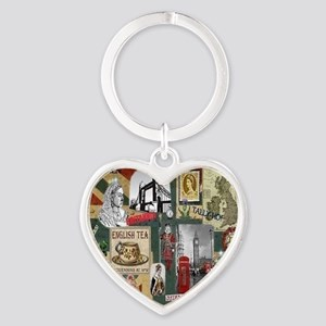 Anglophiles Delight Heart Keychain