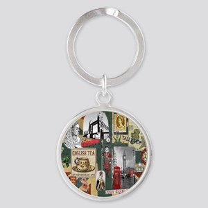 Anglophiles Delight Round Keychain
